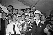 31/05/1964<br /> 05/31/1964<br /> 31 May 1964<br /> Presentation of Bradmola Cup at Tolka Park, Dublin. Grange United defeated Cherry Orchard 2-0. Picture shows the winning team with the trophy. Icluded in the photo is  Mr. Sean Monahan, Honorary Secretary Grange United on the right.