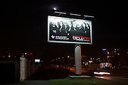 "Large advertisement for a Polish television show called ""Blowjob"", Katowice, Poland."