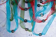 Black pearl necklaces<br />