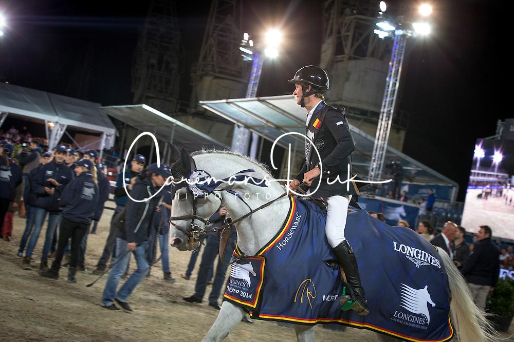Van Paesschen Constant (BEL) - Citizenguard Toscan de St Hermelle<br /> 1 Ward Mclain (USA)<br /> 2 Bengtsson Rolf Goran (SWE)<br /> 3 Van Paesschen Constant (BEL)<br /> Longines Global Champions Tour of Antwerpen 2014<br /> © Dirk Caremans