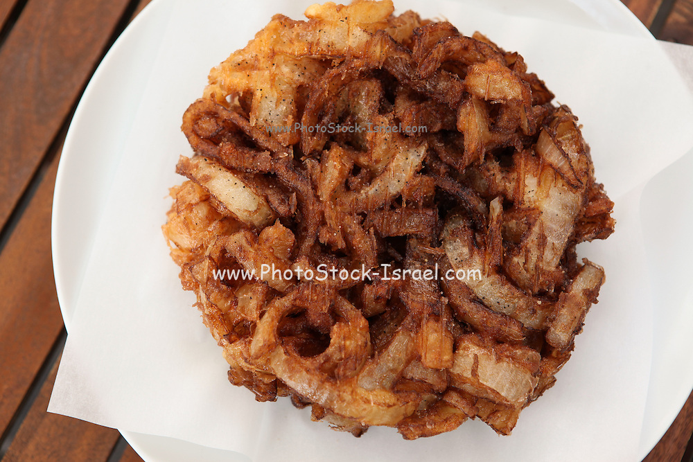 a dish of Fried onions