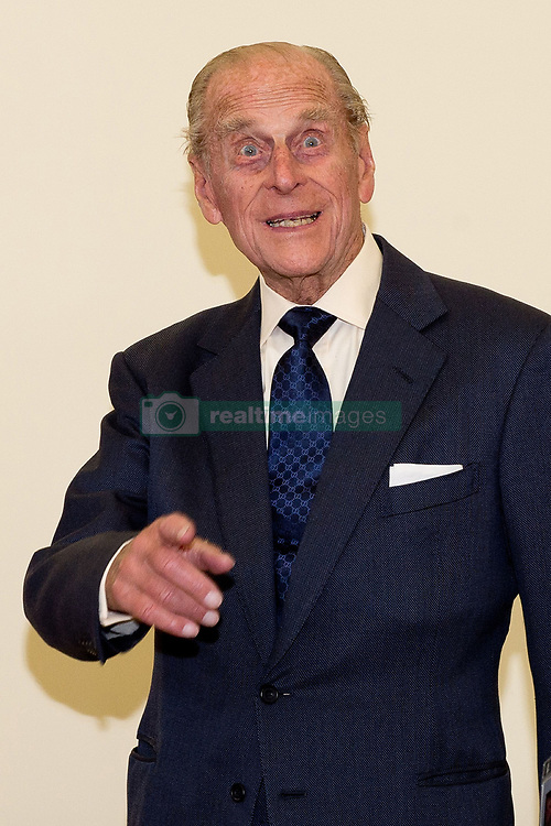 File photo dated 08/10/13 of The Duke of Edinburgh gesturing after watchinging a display by pupils of the Broadland School of Dance in the ACT centre of the St Michael's Care Complex in Aylsham, Norfolk. The Duke of Edinburgh was perhaps best known for his gaffes. He shocked and sometimes delighted the public with his outspoken remarks and clangers. Issue date: Friday April 4, 2021.