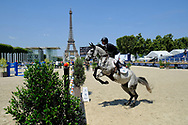 Paris, France : Elizabeth (Beezie) Madden riding Con Taggio during the Longines Paris Eiffel Jumping 2018, on July 5th to 7th, 2018 at the Champ de Mars in Paris, France - Photo Christophe Bricot / ProSportsImages / DPPI