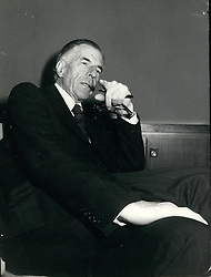 Dec. 12, 1974 - American economist Prof. John Kenneth Galbraith in in Rome to address a conference on 'the monetary situation, inflation and the prospective for stabilization. He is well known as author of important economics publications. (Credit Image: © Keystone Press Agency/Keystone USA via ZUMAPRESS.com)