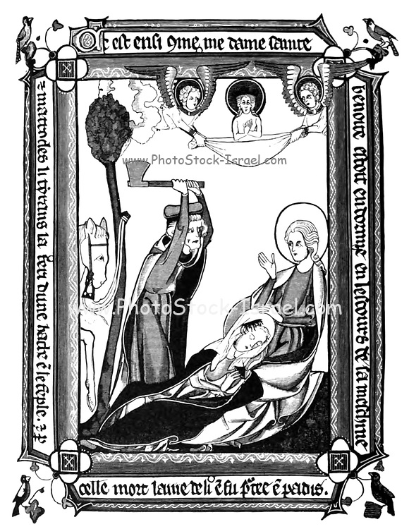 Scene of the martyrdom of Saint Benedicta from a Martyrology of about 1312 From the book ' Illuminated manuscripts in classical and mediaeval times : their art and their technique ' by Middleton, J. H. (John Henry), 1846-1896 Published in 1892