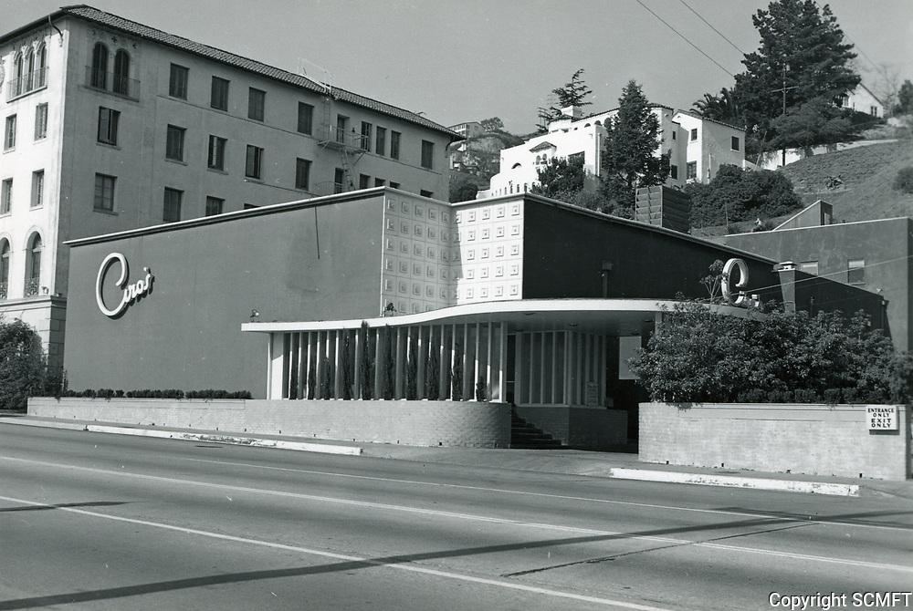 1948 Ciro's Nightclub on Sunset Blvd.