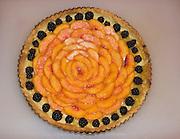 Peach pie dessert