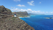 Lighthouse, Makapuu, Beach, Oahu, Hawaii