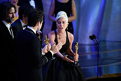 Mark Ronson, Andrew Wyatt, Lady Gaga, and Anthony Rossomando accept the Oscar® for achievement in music written for motion pictures (original song) during the live ABC Telecast of The 91st Oscars® at the Dolby® Theatre in Hollywood, CA on Sunday, February 24, 2019.