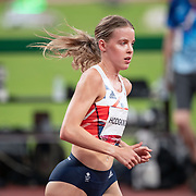 TOKYO, JAPAN August 3:   Silver medal winner Keely Hodgkinson of Great Britain in action at the start of the Women's 800m Final at the Olympic Stadium during the Tokyo 2020 Summer Olympic Games on August 3rd, 2021 in Tokyo, Japan. (Photo by Tim Clayton/Corbis via Getty Images)