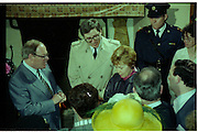 Raisa Gorbachev at Bunratty Folk Park.  (R99)..1989..02.04.1989..04.02.1989..2nd April 1989..While her husband, Russian President Mikhail Gorbachev,was working on state matters ,Mrs Gorbachev was taken on a tour of Bunratty Folk Park in Co Clare. The Gorbachevs were in Ireland as part of a tour of European Capitals...Image shows Mrs Gorbachev thanking the staff at Bunratty Folk Park for the framed certificate which was presented to her.