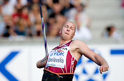 Vadims Vasilevskis of Latvia competes in the men's Javelin Throw Final during day nine of the 12th IAAF World Athletics Championships at the Olympic Stadium on August 23, 2009 in Berlin, Germany. (Photo by Vid Ponikvar / Sportida)