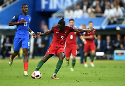 Eder of Portugal scores the only and winning goal of the game in extra time  - Mandatory by-line: Joe Meredith/JMP - 10/07/2016 - FOOTBALL - Stade de France - Saint-Denis, France - Portugal v France - UEFA European Championship Final