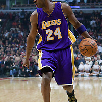15 December 2009: Los Angeles Lakers guard Kobe Bryant dribbles during the Los Angeles Lakers 96-87 victory over the Chicago Bulls at the United Center, in Chicago, Illinois, USA.