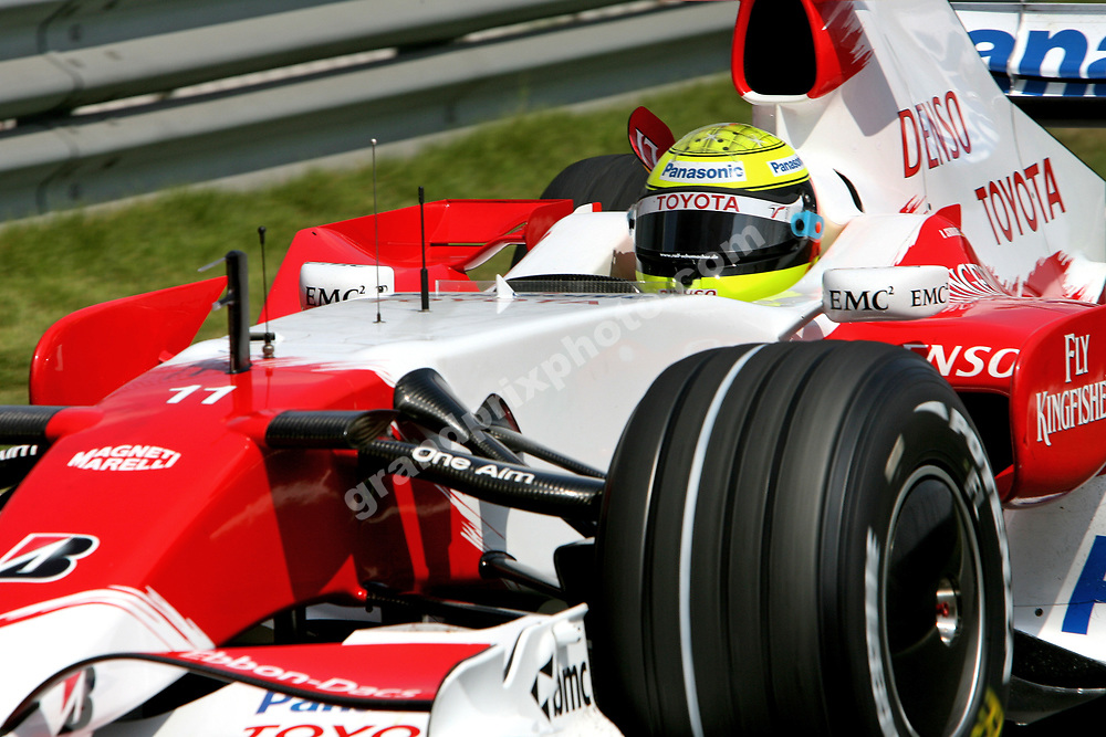 Ralf Schumacher (Toyota) during practice before the 2007 Chinese Grand Prix in Shanghai. Photo: Grand Prix Photo