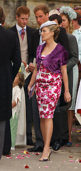 MRS TOM PARKER BOWLES at the wedding of Laura Parker Bowles to Harry Lopes held at Lacock, Wiltshire on 6th May 2006.<br /><br />NON EXCLUSIVE - WORLD RIGHTS