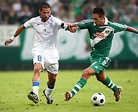 Fotball<br /> Kypros<br /> Foto: Gepa/Digitalsport<br /> NORWAY ONLY<br /> <br /> 06.08.2008<br /> UEFA Champions League Qualifikation, SK Rapid Wien vs Anorthosis Famagusta FC. <br /> <br /> Bild zeigt Ioannis Skopelitis (Famagusta) und Veli Kavlak (Rapid)