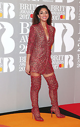 The Brit Awards, Arrivals, O2 Arena, London, UK. 22 Feb 2017 Pictured: Nicole Scherzinger. Photo credit: MEGA TheMegaAgency.com +1 888 505 6342