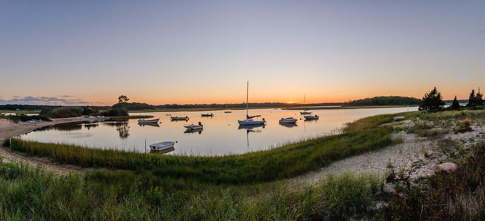 Boats, Springs, Accabonac Harbor, Long Island, New York