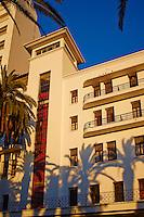 Maroc, Casablanca, place des Nations Unis, hotel Plaza, 1930, par Marius Boyer// Morocco, Casablanca, United Nation (Nation Unis) square, Plaza hotel, architect Marius Boyer, 1930