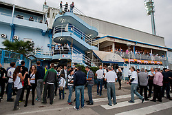 Fans before football match between HNK Rijeka and HNK Hajduk Split in 11th Round of Prva Hrvaska Nogometna Liga MaxTV 2013/14 on September 28, 2013 in Stadion Kantrida, Rijeka, Croatia. (Photo By Urban Urbanc / Sportida.com)