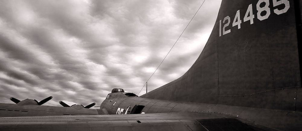 "The ""movie"" B-17 Memphis Belle, photographed at Dekalb Peachtree Airport (PDK), Atlanta."