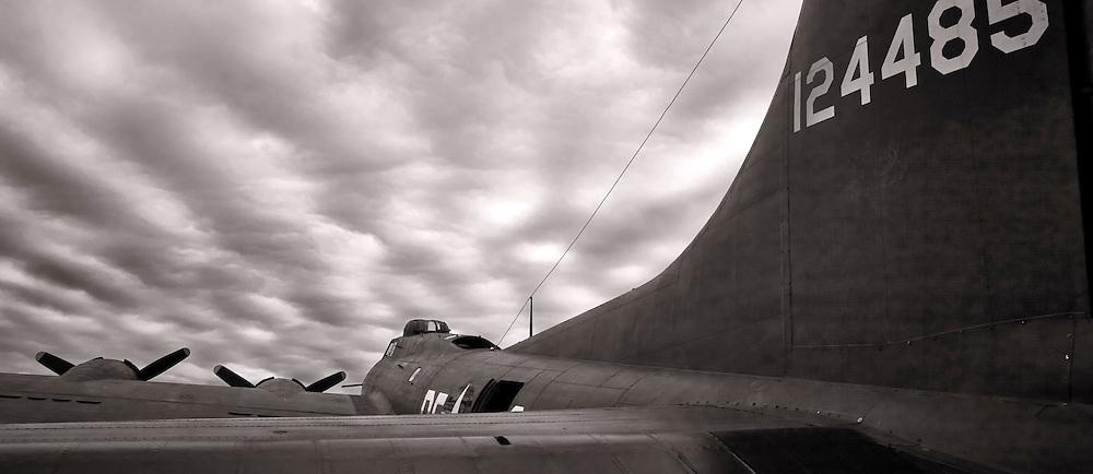 "The ""movie"" B-17 Memphis Belle, photographed at Dekalb Peachtree Airport (PDK), Atlanta."