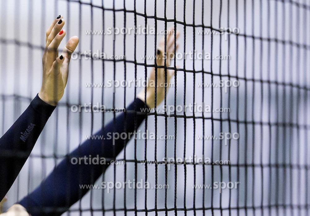 Players of Nova KBM during volleyball match between Nova KBM Branik Maribor and OK Luka Koper in Final of Women Slovenian Cup 2014/15, on January 18, 2015 in Sempeter v Savinjski dolini, Slovenia. Photo by Vid Ponikvar / Sportida
