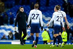 Tottenham Hotspur manager Mauricio Pochettino congratulates his players after their 6-2 win over Everton - Mandatory by-line: Robbie Stephenson/JMP - 23/12/2018 - FOOTBALL - Goodison Park - Liverpool, England - Everton v Tottenham Hotspur - Premier League