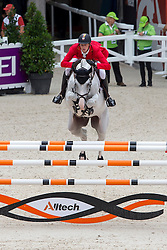 Daniel Deusser, (GER), Cornet D Amour - Team & Individual Competition Jumping Speed - Alltech FEI World Equestrian Games™ 2014 - Normandy, France.<br /> © Hippo Foto Team - Leanjo De Koster<br /> 02-09-14