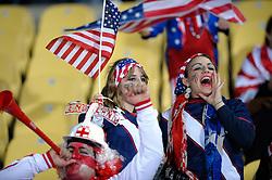 12.06.2010, Royal Bafokeng Stadium, Rustenburg, RSA, FIFA WM 2010, England (ENG) vs USA (USA), im BildEngland & USA fans soak up the atmosphere prior to kick off, EXPA Pictures © 2010, PhotoCredit: EXPA/ IPS/ Mark Atkins / SPORTIDA PHOTO AGENCY