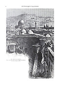 Jerusalem and mount of Olives from the book Picturesque Palestine, Sinai, and Egypt By  Colonel Wilson, Charles William, Sir, 1836-1905. Published in New York by D. Appleton and Company in 1881  with engravings in steel and wood from original Drawings by Harry Fenn and J. D. Woodward Volume 1