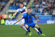 Ollie Rathbone looks to beat his marker during the EFL Sky Bet League 1 match between Gillingham and Rochdale at the MEMS Priestfield Stadium, Gillingham, England on 30 March 2019.