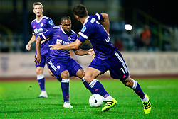 Marcos Tavares and Rok Kronaveter of NK Maribor during football match between NK Domzale and NK Maribor in 2nd Round of Prva liga Telekom Slovenije 2020/21, on August 30, 2020 in Športni park Domzale, Slovenia. Photo by Vid Ponikvar / Sportida
