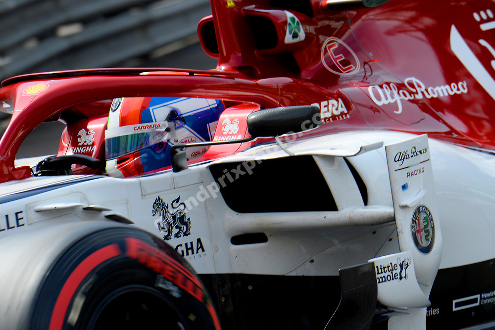 Antonio Giovinazzi (Alfa Romeo-Ferrari) during qualifying for the 2019 Monaco Grand Prix. Photo: Grand Prix Photo