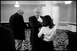 Image ©Licensed to i-Images Picture Agency. 30/06/2016. London, United Kingdom. Boris Johnson Stands down from the Leadership Race. The Former of Mayor of London Boris Johnson and Vote Leave campaigner, in the greenroom with his wife Marina after pulling out of the leadership race for the Conservative Party and to take over as the Prime Minister, After David cameron resigned after the country voted to leave the Eu on June 23rd 2016. Picture by Andrew Parsons / i-Images