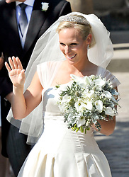File photo dated 30/07/11 of Zara Tindall in Stewart Parvin dress on her wedding day. A bridal expert has suggested that Princess Eugenie should opt for an elegant and simple wedding dress to create a memorable royal look, rather than going for over-the-top drama.