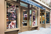 The exterior of the MAC Cosmetics store at 353 Bleecker Street in Greenwich Village, New York City.