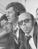 Football - 1979 / 1980 Fulham v Preston North End.<br /> <br /> Nobby Stiles - Manager of Preston North End<br /> <br /> Alan Kelly - assistant manager (left)