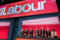 © Licensed to London News Pictures . 27/09/2015 . Brighton , UK . A minute's silence is held at the first session of the 2015 Labour Party Conference . Photo credit : Joel Goodman/LNP