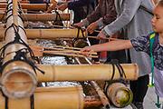 Japan, Kyoto, Fushimi Inari Taisha shrine. Pilgrims purify themselves with water