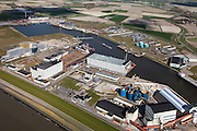 Nederland, Friesland, Harlingen, 16-04-2012; zicht op de Industriehaven  met scheepswerf...Shipyard and industrial harbour of the city of Harlingen (North Netherlands).luchtfoto (toeslag), aerial photo (additional fee required);.copyright foto/photo Siebe Swart