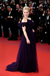 Emilia Clarke attending the Solo: A Star Wars Story premiere at the 71st Cannes Film Festival