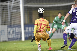January 10, 2018 - Tubize, BELGIUM - Tubize's Simon Zenke pictured in action during a soccer game between AFC Tubize and Beerschot-Wilrijk, in Tubize, Wednesday 10 January 2018, on day 19 of the division 1B Proximus League competition of the Belgian soccer championship. The game was postponed because of bad weather conditions on December 10th. BELGA PHOTO JOHN THYS (Credit Image: © John Thys/Belga via ZUMA Press)