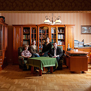 Robert 43, Agnieszka 42, Magdalena 21, Ewelina 20<br /> <br /> Wołomin, Poland average income, higher education<br /> <br /> Robert is a businessman in the food industry and a writer. <br /> Agnieszka takes care of the house.<br /> Magdalena and Ewelina are students. <br /> <br /> Every weekend we eat together. The Sunday lunch is the biggest lunch for us. When we have guests or our family is visiting us we eat together on a big table with loads of food. The family dinner is a chance to meet and a cure for hunger. There are some dishes in our family based on cucumber and potatoes that nobody else has, like a family tradition