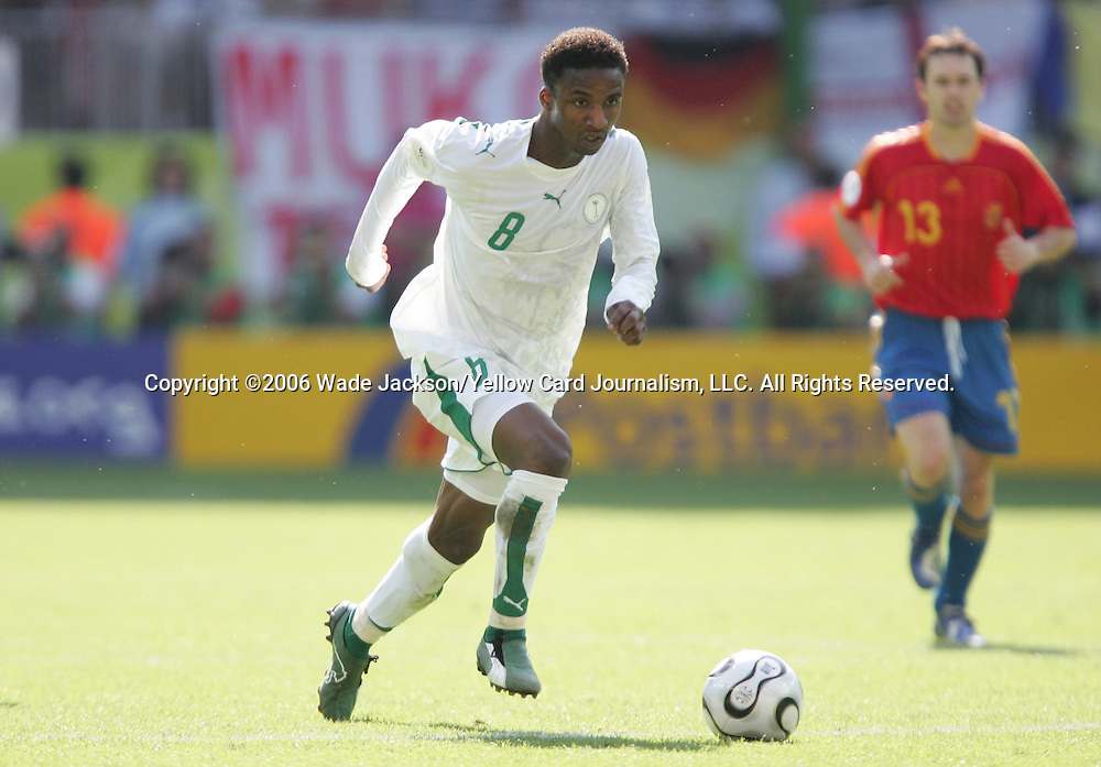 23 June 2006: Mohammed Noor (KSA). Saudi Arabia lost to Spain at Fritz-Walter Stadion in Kaiserslautern, Germany in match 47, a Group H first round game, of the 2006 FIFA World Cup.