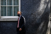 London, United Kingdom, May 28, 2021: UK Health Secretary Matt Hancock arrives at ten Downing Street on Friday, May 28, 2021. A YouGov poll in The Times newspaper has suggested more than a third of people think Matt Hancock should resign. (Photo by Vudi Xhymshiti)