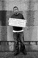 Portraits of people at Occupy LA in downtown Los Angeles.<br /> Kevin Guest, from Los Angeles.