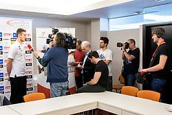 15.01.2018, Hotel Molindrio, Porec, CRO, EHF EM, Herren, Pressekonferenz Österreich, Gruppe B, im Bild Nikola Bilyk (AUT) bei einem interview // during an Austrian Press Conference during the EHF men's Handball European Championship at the Hotel Molindrio in Porec, Croatia on 2018/01/15. EXPA Pictures © 2018, PhotoCredit: EXPA/ Sebastian Pucher