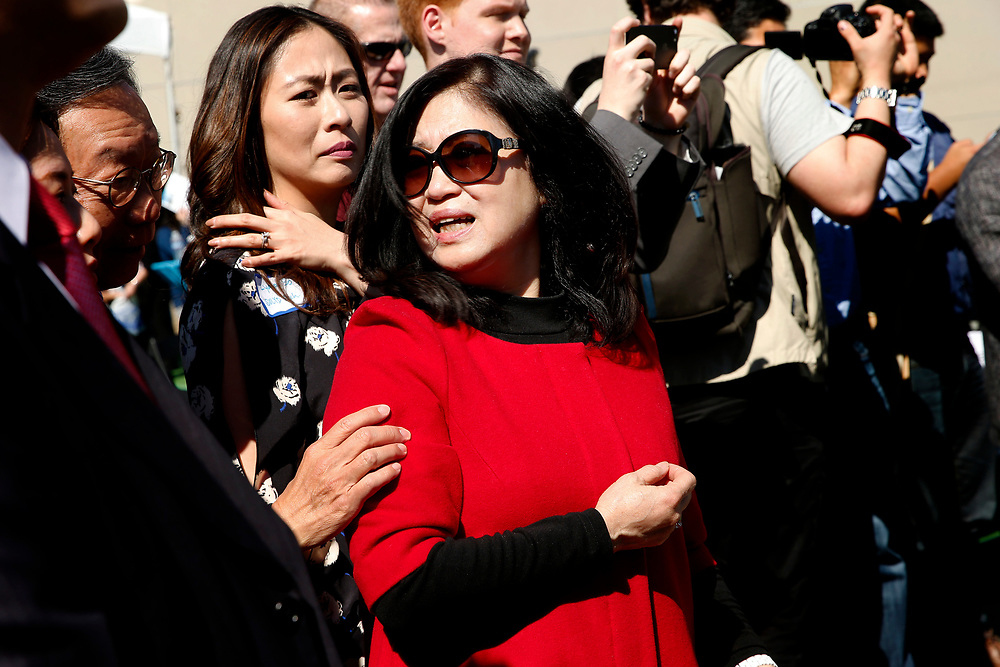 Anita Lee, wife of the late Mayor Ed Lee, at the site of construction for the Marriott SOMA Mission Bay Hotel, located at 100 Channel St., Thursday, March 29, 2018, in San Francisco, Calif.